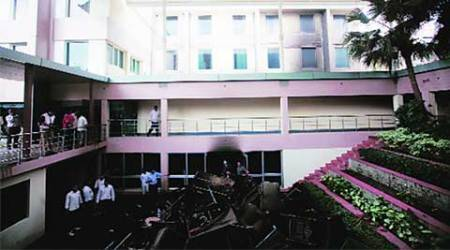 AIIMS, fire at AIIMS, Gujarat Bhwan, fire at Gujarat Bhawan, delhi news, city news, local news, delhi newsline
