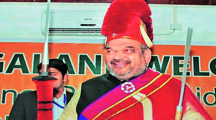 BJP president Amit Shah in Dimapur on Friday. (Source: PTI