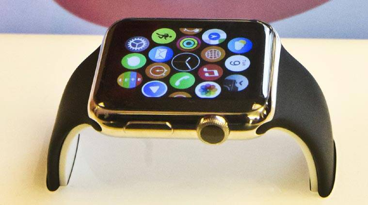 Apple Watch Gold Edition. (Source: Associated Press)