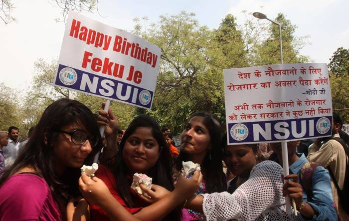 narendra modi, april 1, april fools day, NSUI, congress