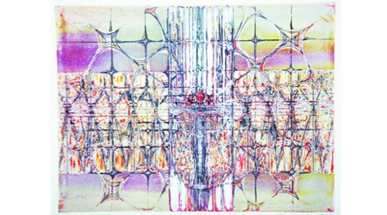 Considered a master in intaglio printmaking, Krishna Reddy is known for his geometrical abstraction of nature.