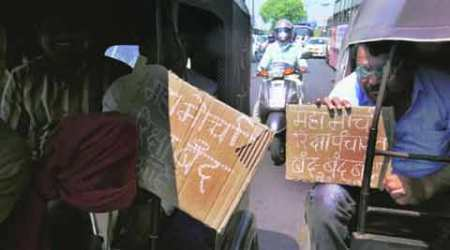 Rickshaw body gears for strike as radio cabs enter auto zone
