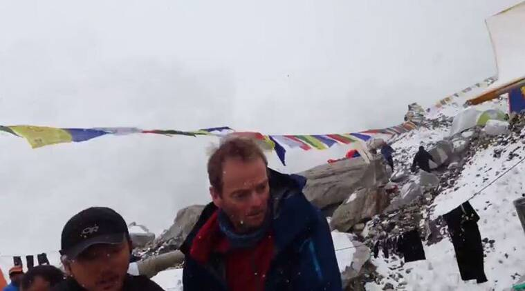 avalanche video, nepal earthquake, nepal earthquake video, everest avalanche, everest avalanche video, mount everest, jost kobusch
