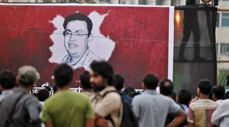 Avijit Roy, a prominent Bangladeshi-American blogger known for speaking out against religious extremism was hacked to death as he walked through Bangladesh's capital with his wife. (Source: AP photo)