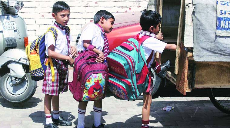 At a school in Sector 22, Chandigarh. (Source: Express photo by Jaipal Singh)