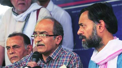 AAP, Yogendra yadav, Prashant Bhushan, Arvind Kejriwal, open dialogue, swaraj samvad, swaraj samvad in AAP, delhi news, city news, delhi newsline, local news