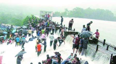 accident, student death, death, Bhushi Dam, waterfall death, pune news, city news, local news, pune newsline