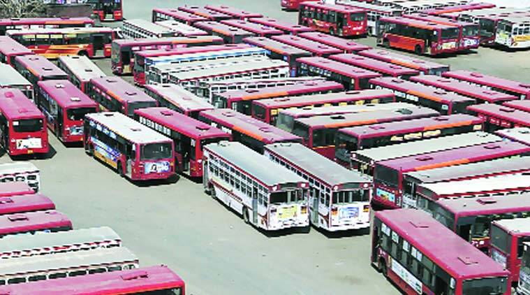 Ahmedabad, AMTS, ahmedabad municipal transport service, contractual striking employees, contractual strike, new recruits, new conductors, conductor recruitment, india news, indian express