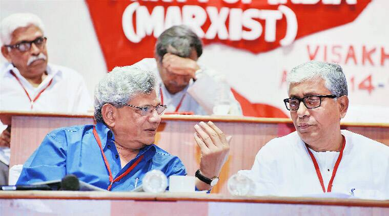 CPM, Brinda Karat, Sitaram Yechury, Hindutva, CPM politburo, politburo CPM, CPM central committee, Hindutva forces, Narendra Modi government, communal tension, communal Hindutva, communal clashes, BJP government, Brinda Karat column, ie column, indian express column, CPM policy, CPM hindutva fight, CPM BJP fight, CPM economic policies, BJP CPM fight, CPM leadership, YEchury CPM, CPM sitaram yechury, CPM Visakhapatnam meet, Visakhapatnam CPM meet