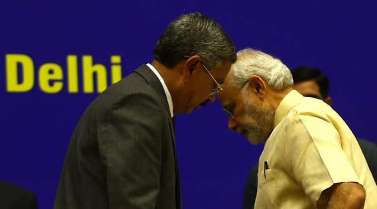Narendra Modi, Modi Judiciary, Modi judges meet, Modi Vigyan Bhawan, CJI H L Dattu, Modi Judges, Modi Judges meet, India news