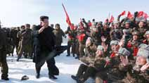 New high for Kim Jong-Un: scales North Korea's tallest mountain Mt Paektu