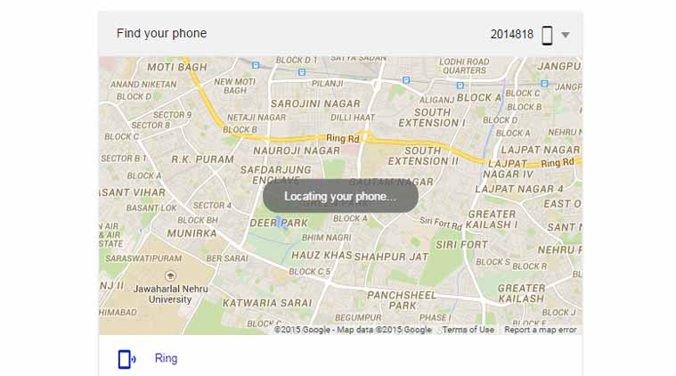 Google's New Find Your Phone feature. (Source:Screenshot)