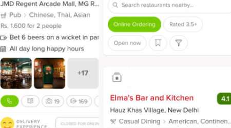 Zomato app gets updated, now allows online food ordering option