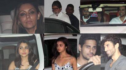 Amitabh Bachchan, Alia Bhatt, Anushka Sharma, Gauri Khan party with Karan Johar