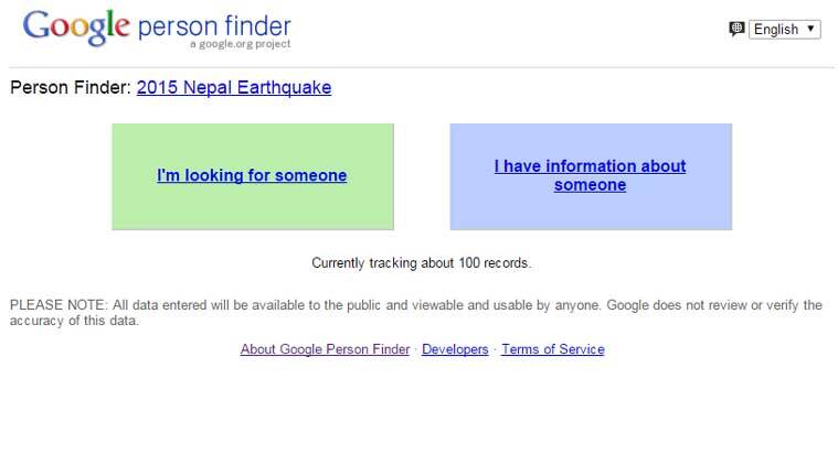 Google launches 'Person Finder' after devastating earthquake
