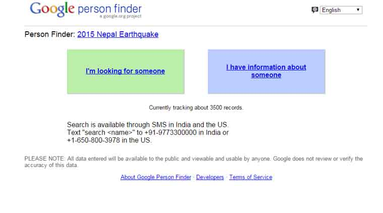 Google People Finder, Nepal Earthquake, Earthquake,