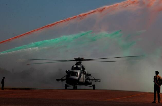 MI helicopter induction, MI helicopter induction ceremony, MI helicopters, MI-17 V5 Helicopters Induction ceremony, MI-17 V5 Helicopters, Induction ceremony, Kiren Rijiju, picture gallery, indian express