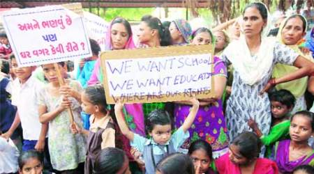 Protests continue as Vadodara's over 300 displaced families yet to get theirhomes