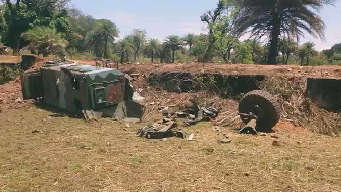 Naxal attack: The IED blast site at Chaulnar, Dantewada