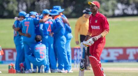 U19 World Cup Live Score India vs Zimbabwe Live: India in no trouble in chase against Zimbabwe