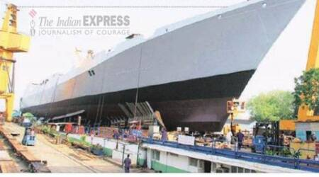 Navy's new stealth destroyer 'Visakhapatnam' launched