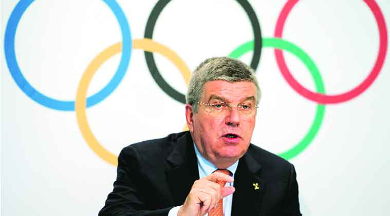 IOC president Thomas Bach is expected to discuss a possible Indian bid for the 2024 Olympics with PM Narendra Modi on Monday.