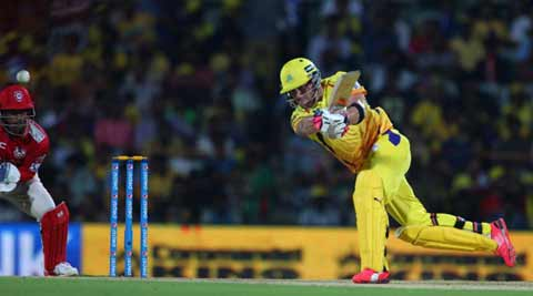 IPL 2015 Live Score, CSK vs KXIP: CSK lose Suresh Raina, slow down against KXIP