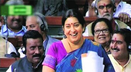 Opposition calls her arrogant, Smriti Irani does not yield