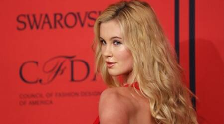 Ireland Baldwin strikes raunchy poses for lingerie shoot