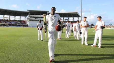 West Indies salvage draw with Jason Holder's maiden Test ton