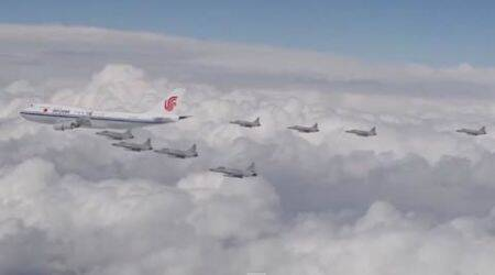 This video of China's 'Air Force One' escorted by Pak fighter jets is fascinating