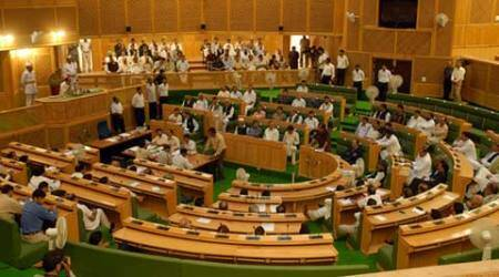 MLAs marshaled out of J&K Assembly over funds distributionissue