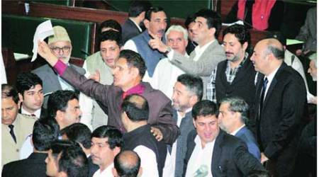 Uproar in House, 2 PDP MLAs join walk out