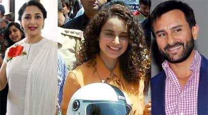Busy stars: Madhuri Dixit, Kangana Ranaut, Saif AliKhan