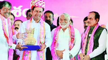 TRS plenary: KCR son takes centre stage, sulking nephew keeps it low