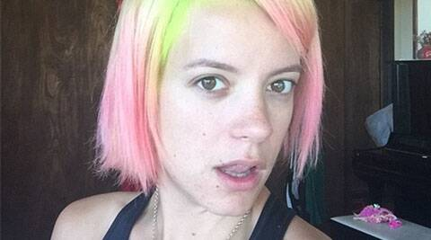Lily Allen, Lily Allen Pink and Neon Green Color