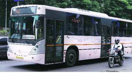 Luxury bus shuttle for Lohegaon airport: A parting gift from Pardeshi