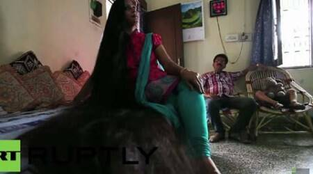 Video: Indian woman with 7 ft long hair aspires to hold worldrecord