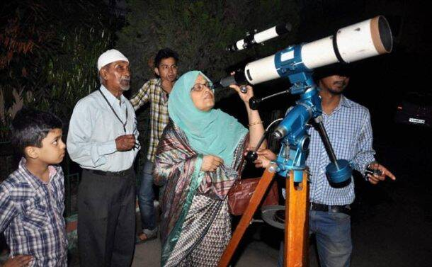 People witness partial lunar eclipse across India