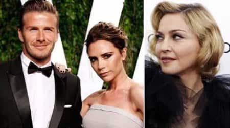 Madonna, David Beckham, wife Victoria
