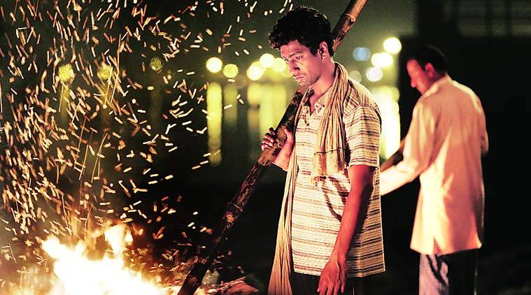 (Above) A still from Masaan; Varun Grover and Neeraj Ghaywan