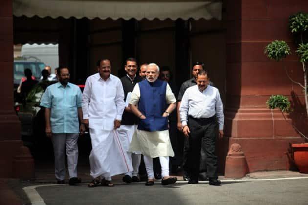 narendra modi, venkaiah naidu, parliament session