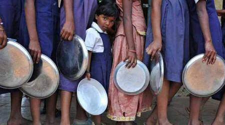 west bengal mid-day meals, west bengal schools, mid-day meal controversy, west bengal mid-day meal controversy, west bengal education minister, partha chatterjee, west bengal bjp, trinamool congress, kolkata news, city news, Indian Express