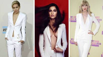Celebs who have rocked the 'White Pantsuit': Sonam Kapoor, Miley Cyrus, Taylor Swift
