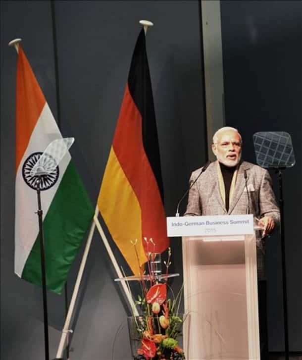 Narendra Modi, Germany, Hannover, Berlin, Modi in Germany, Angela Merke, Mayor of Hannover, iemens CEO Joe Kaeser, India Pavilion at Hannover Messe, change in India's regulatory environment, Volkswagen, Daimler