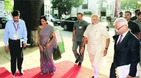 Creating conducive mechanism for services growth: PM NarendraModi,