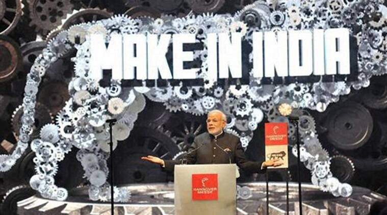Prime Minister Narendra Modi speaks at the opening of the industrial fair in Hanover, Germany on Sunday. (Source: PTI)