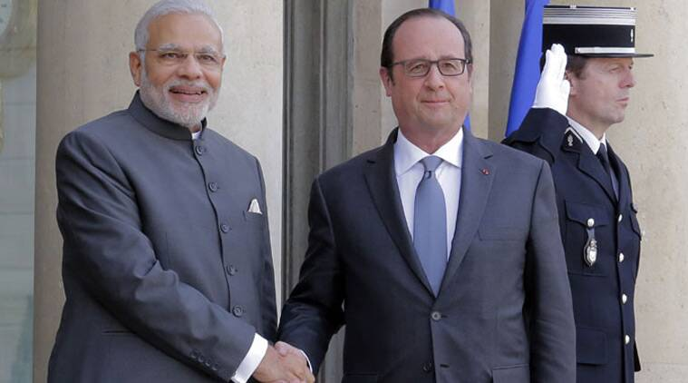 narendra modi, PM modi, francois hollande, modi hotline to hollande, rafale jet deal, MMRCA, COP-21, paris conference, indian express