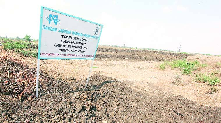 The site of SSNNL's canal-based micro turbine project at Miyagam branch canal near Dabhoi in Vadodara. (Source: Express photo byBhupendra Rana)