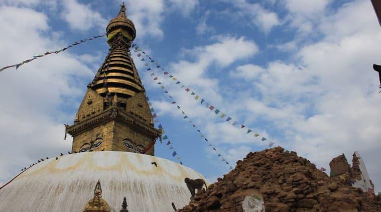 Stupa Swayambhunath di Nepal diguncang gempa 7.8 Mw
